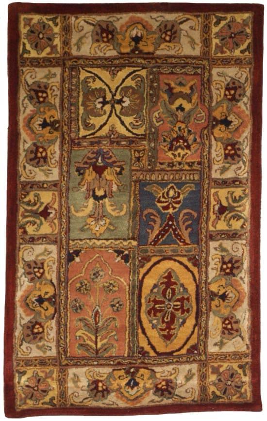 Safavieh Handmade Classic Bakhtieri Multicolored Wool Rug (3'x5') - Thumbnail 1