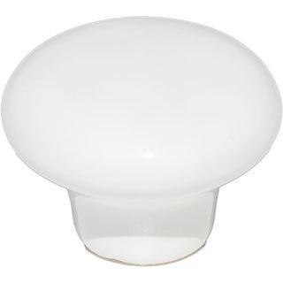 GlideRite Round White Ceramic Knobs (Pack of 10)
