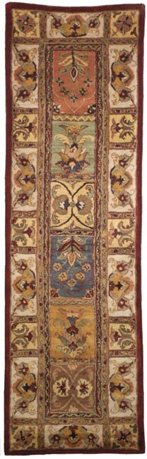 "Safavieh Handmade Classic Bakhtieri Multicolored Wool Rug - 2'3"" x 10'"