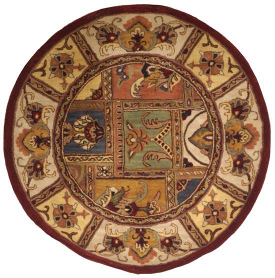 Safavieh Handmade Classic Bakhtieri Multicolored Wool Rug (3'6 Round) - Thumbnail 1