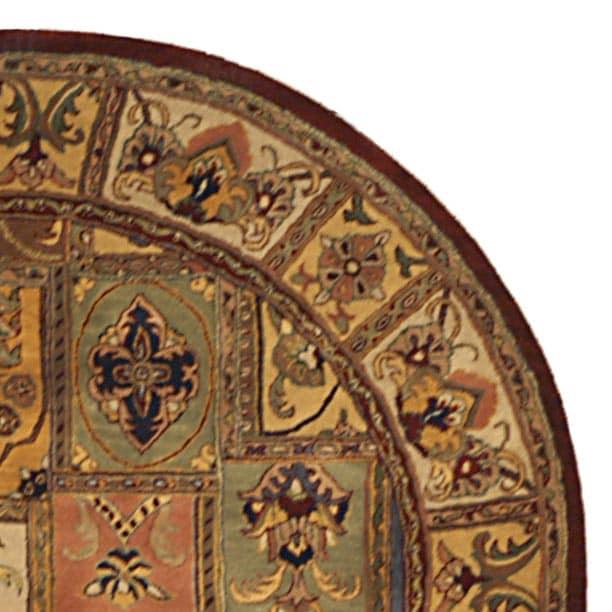 Safavieh Handmade Classic Bakhtieri Multicolored Wool Rug (3'6 Round) - Thumbnail 2