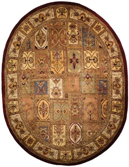Safavieh Handmade Classic Bakhtieri Multicolored Wool Rug (7'6 x 9'6 Oval)
