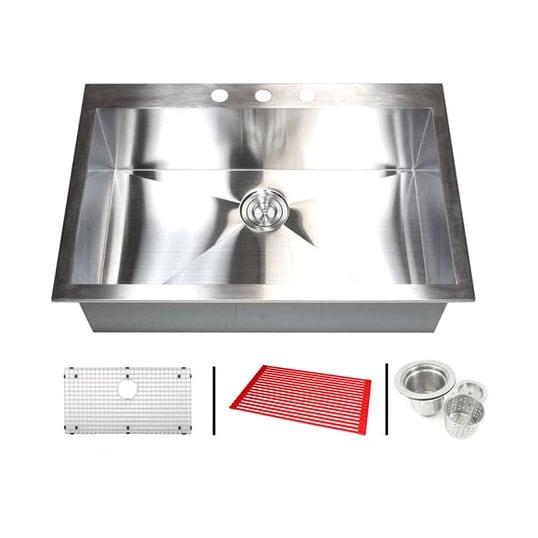 Stainless steel 33 inch single bowl topmount drop in zero radius stainless steel 33 inch single bowl topmount drop in zero radius kitchen sink with workwithnaturefo