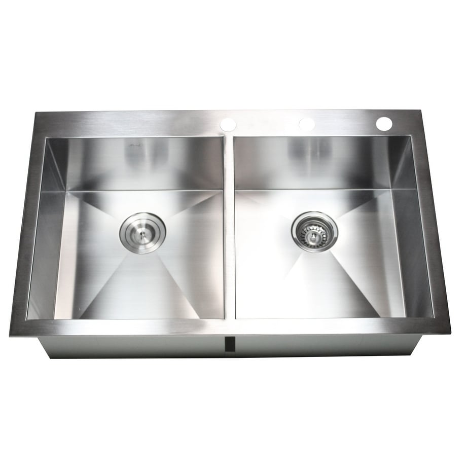 Stainless Steel (Silver) 36-inch Double-bowl Topmount Dro...