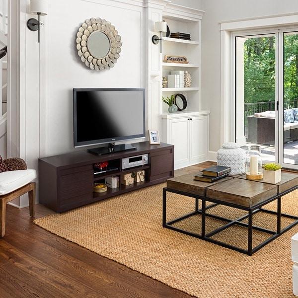 Furniture of America Irvine Contemporary 70-inch Entertainment TV Console