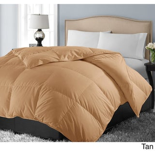 Hotel Grand 1000 Thread Count Egyptian Cotton Oversized White Down Comforter