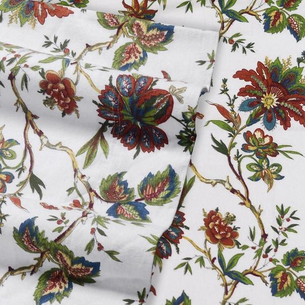 Tribeca Living Rainforest Printed Deep Pocket Flannel Sheet Set With Pillowcase California King