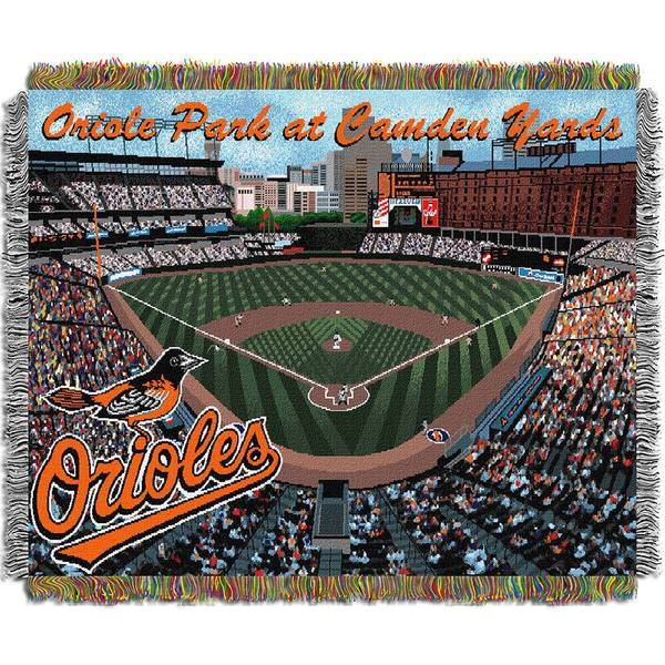 MLB Baltimore Orioles Oriole Park at Camden Yards Woven Tapestry Throw