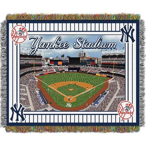 MLB Stadium Woven Tapestry Throw