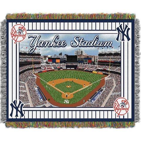 MLB Stadium Woven Tapestry Throw