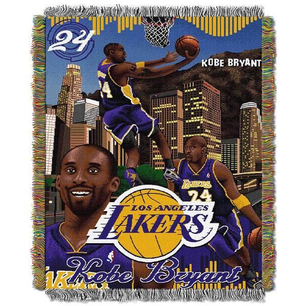 NBA Kobe Bryant Los Angeles Lakers Woven Tapestry Throw