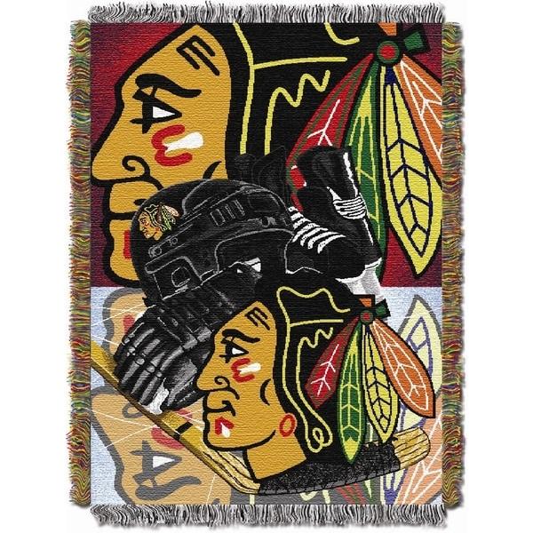 NHL Chicago Blackhawks Woven Tapestry Throw