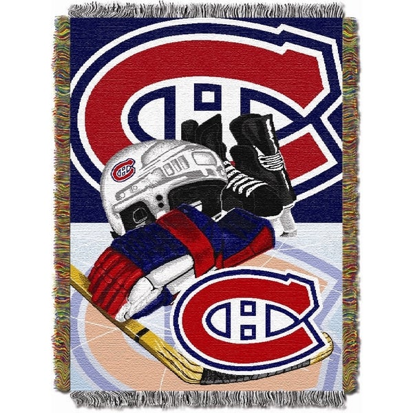 NHL Montreal Canadiens Woven Tapestry Throw