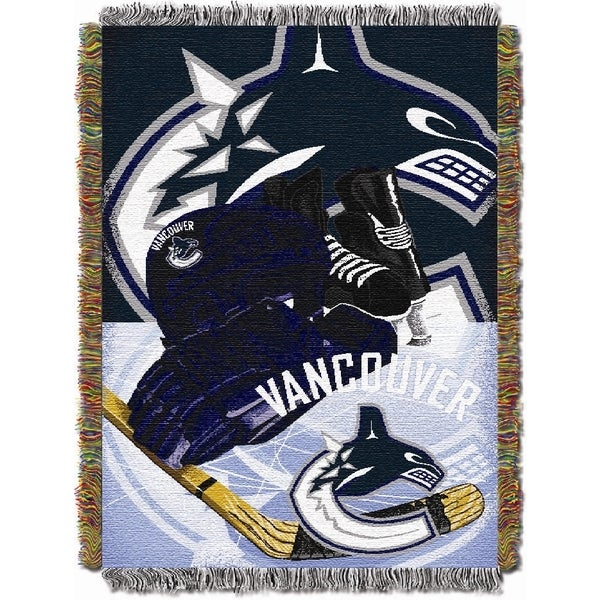 NHL Vancouver Canucks Woven Tapestry Throw