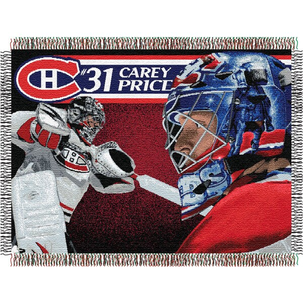 NHL Montreal Canadiens Carey Price Woven Tapestry Throw