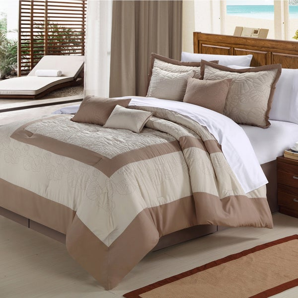 Seashell Taupe 8-piece Comforter Set