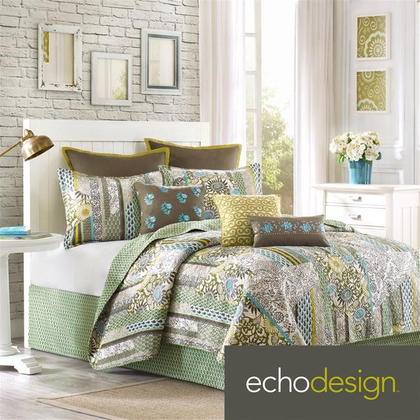 Echo Design Brand Boho Chic Coverlet with Optional Sham Separates