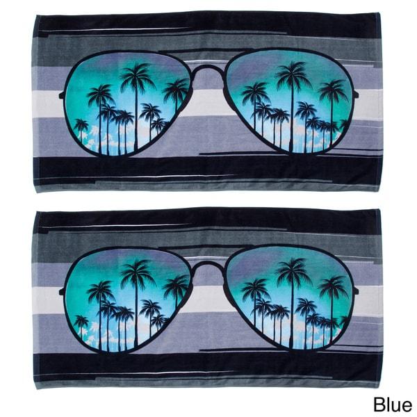 Sunglasses Design Beach Towel (Set of 2)