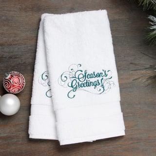 Embroidered Seasons Greetings Holiday Turkish Cotton Hand Towels (Set of 2)|https://ak1.ostkcdn.com/images/products/8522493/Embroidered-Seasons-Greetings-Holiday-Turkish-Cotton-Hand-Towels-Set-of-2-P15805424.jpg?impolicy=medium