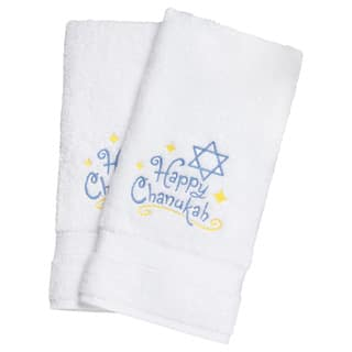 Embroidered Happy Chanukah Holiday Turkish Cotton Hand Towels (Set of 2)|https://ak1.ostkcdn.com/images/products/8522495/Embroidered-Happy-Chanukah-Holiday-Turkish-Cotton-Hand-Towels-Set-of-2-P15805433.jpg?impolicy=medium