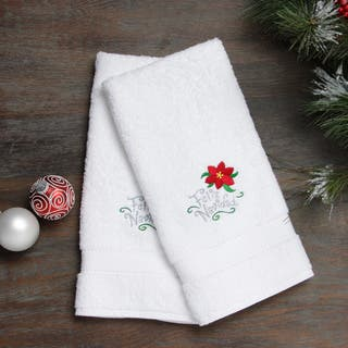 Embroidered Feliz Navidad with Poinsettia Holiday Turkish Cotton Hand Towels (Set of 2)|https://ak1.ostkcdn.com/images/products/8522497/Embroidered-Feliz-Navidad-with-Poinsettia-Holiday-Turkish-Cotton-Hand-Towels-Set-of-2-P15805426.jpg?impolicy=medium
