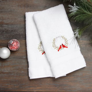 Embroidered Holiday Wreath and Cardinals Holiday Turkish Cotton Hand Towels (Set of 2)|https://ak1.ostkcdn.com/images/products/8522499/Embroidered-Holiday-Wreath-and-Cardinals-Holiday-Turkish-Cotton-Hand-Towels-Set-of-2-P15805427.jpg?impolicy=medium