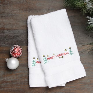 Embroidered Merry Christmas with Stars Holiday Turkish Cotton Hand Towels (Set of 2)|https://ak1.ostkcdn.com/images/products/8522501/Embroidered-Merry-Christmas-with-Stars-Holiday-Turkish-Cotton-Hand-Towels-Set-of-2-P15805429.jpg?impolicy=medium