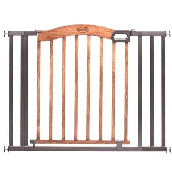 Shop Summer Infant Wood Metal Expansion Gate Free