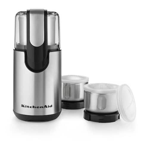 KitchenAid BCG211OB Onyx Black Coffee and Spice Grinder Kit