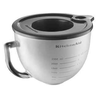 KitchenAid K5GBF 5-quart Frosted Glass Bowl with Lid for Tilt-Head Stand Mixer