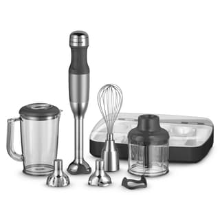 KitchenAid KHB2561CU Contour Silver 5-speed Immersion Hand Blender ...