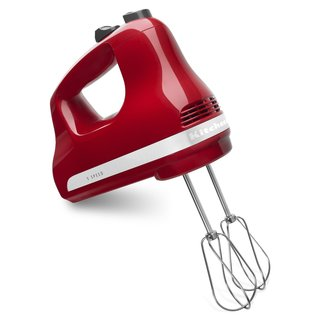 KitchenAid KHM512ER Empire Red 5-speed Ultra Power Hand Mixer