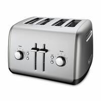 KitchenAid KMT4115CU Contour Silver 4-slice Metal Toaster