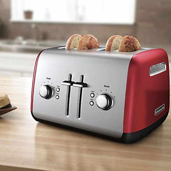 KitchenAid KMT4115ER Empire Red 4-slice Metal Toaster