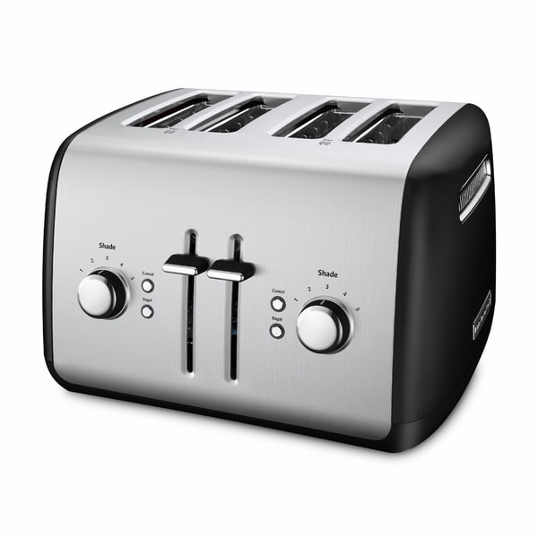 Black Kitchenaid Toaster: Shop KitchenAid KMT4115OB Onyx Black 4-slice Metal Toaster