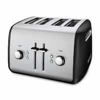 KitchenAid KMT4115OB Onyx Black 4-slice Metal Toaster