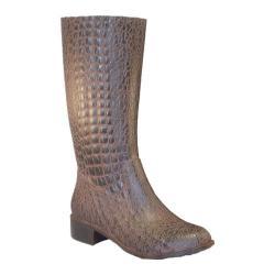 Women's Burnetie Gator Boots Chocolate