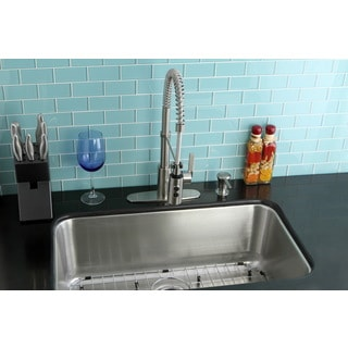 Undermount Stainless Steel 30-inch Single Bowl Kitchen Sink and Faucet Combo