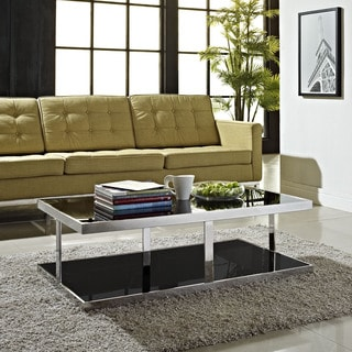 'Absorb' Stainless Steel Glass-top Coffee Table