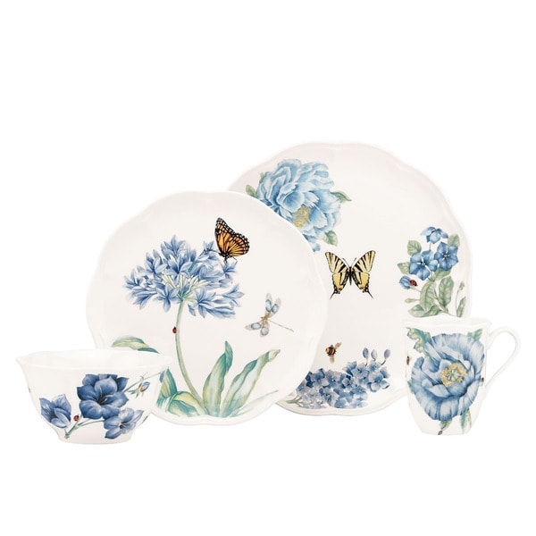Shop Lenox Butterfly Meadow Blue 4 Piece Dinnerware