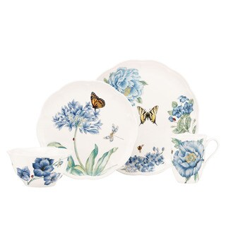 Lenox 'Butterfly Meadow' Blue 4-piece Dinnerware Place Setting