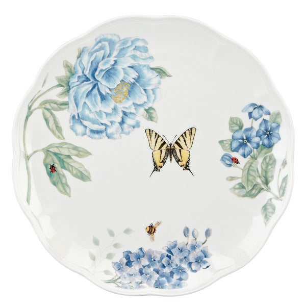 Lenox 'Butterfly Meadow' Blue Dinner Plate