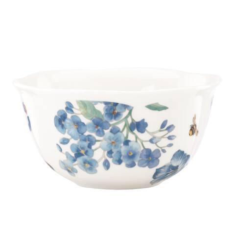 Lenox 'Butterfly Meadow' Blue 4-piece Dessert Bowl Set