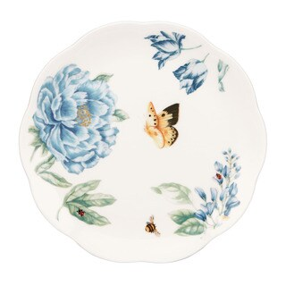 Lenox 'Butterfly Meadow' Blue 4-piece Dessert Plate Set