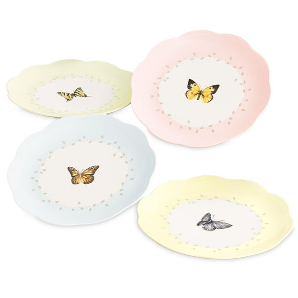 Shop Lenox Butterfly Meadow 4 Piece Dessert Plate Set