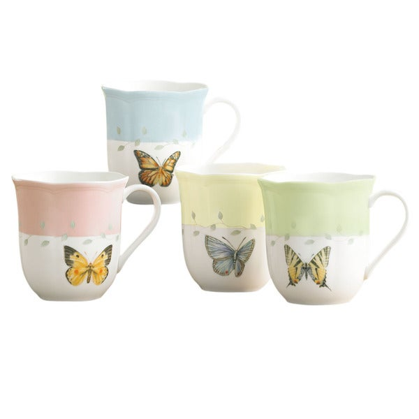 Shop Lenox Butterfly Meadow 4 Piece Mug Set Free