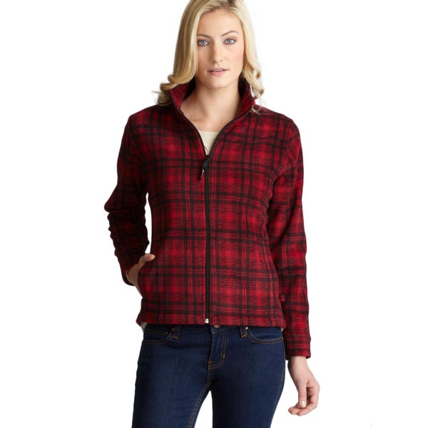 Woolrich Two Pocket Zipper Mock Collar Plaid Print Jacket
