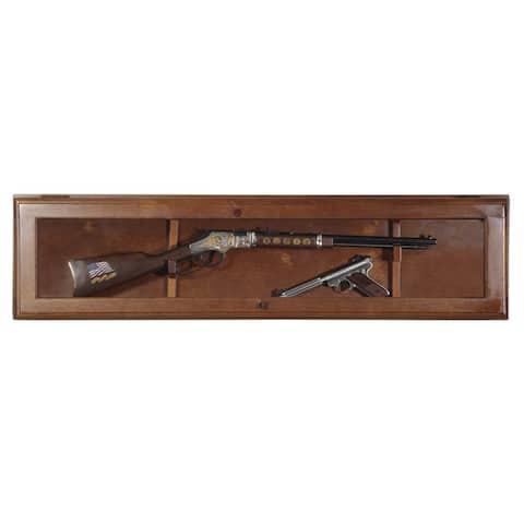 Horizontal Glass Door Wall Gun Display Cabinet