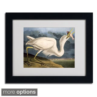 John James Audubon 'Great White Heron' Framed Matted Art