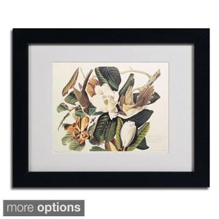John James Audubon 'Black-Billed Cuckoo' Framed Matted Art